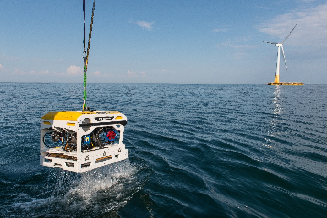 Forssea's ARGOS ROV being recovered after FLOATGEN's subsea survey completion